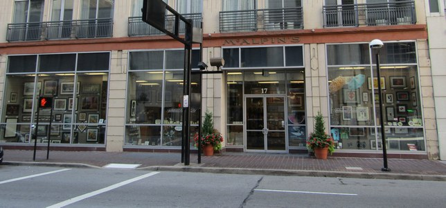 Wide shot of Downtown store