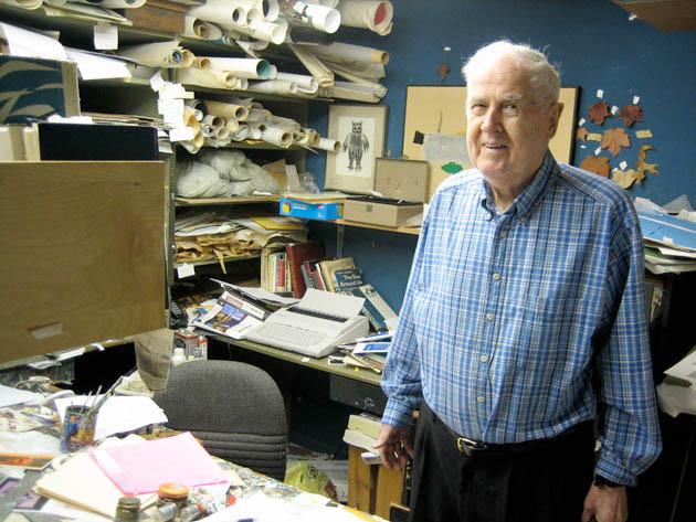 Charley Harper in his studio, 2006