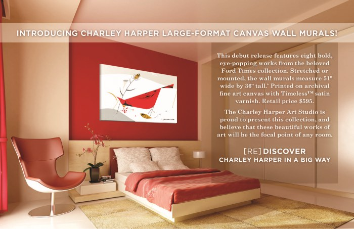 Introducing Charley Harper Large-Format Canvas Wall Murals! [RE]DISCOVER Charley Harper in a Big Way.